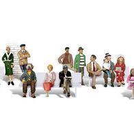 16 Fahrgäste 1:87 Figuren Miniaturwelten H0 Woodland Scenics A1908