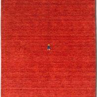 Morgenland Gabbeh SAHARA Teppich Orange Einfarbig Tier Handgewebt Schurwolle