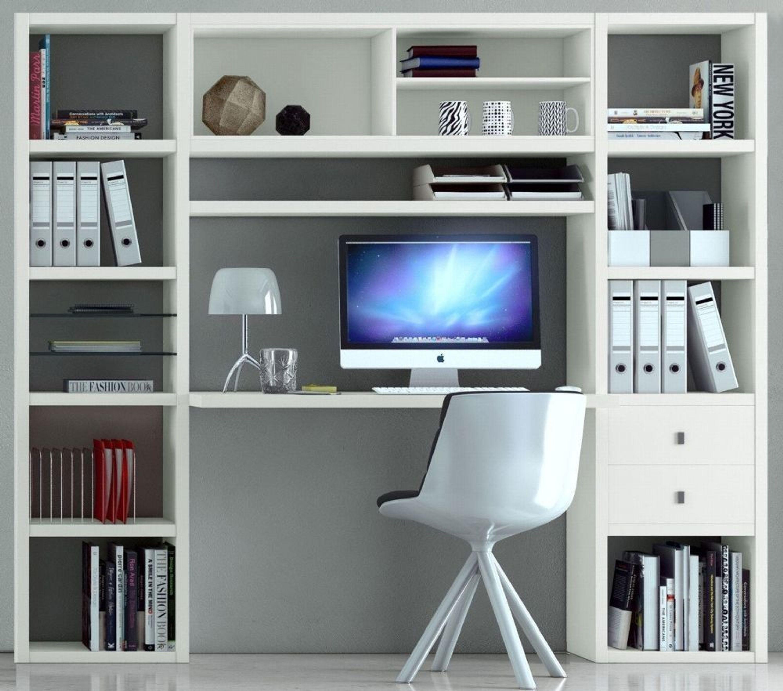 Toro Bücherregal Mit Integrierten Schreibtisch Regale Weiß Matt