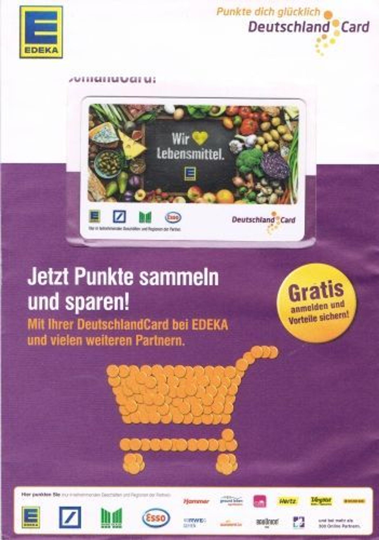 Deutschlandcard 2 Karte Anmelden.2x Deutschlandcard Punkte Sammel Karte Partnercard Edeka Wir Lieben Lebensmittel
