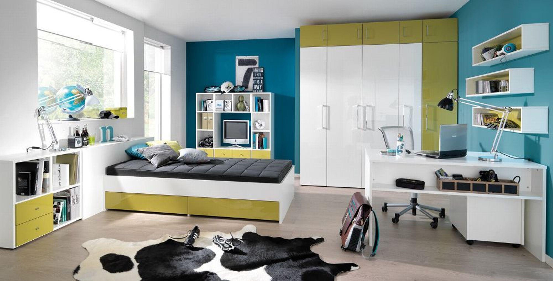 Welle Jugendzimmer Kinderzimmer Jugendmöbel Hochglanz Viele Farben  Individuell Kaufen Bei Hood.de