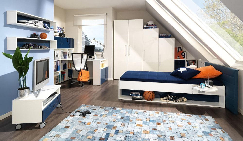 Welle Jugendwunder 5+ Jugendzimmer Kinderzimmer Dachschräge Hochglanz V.  Farben Kaufen Bei Hood.de