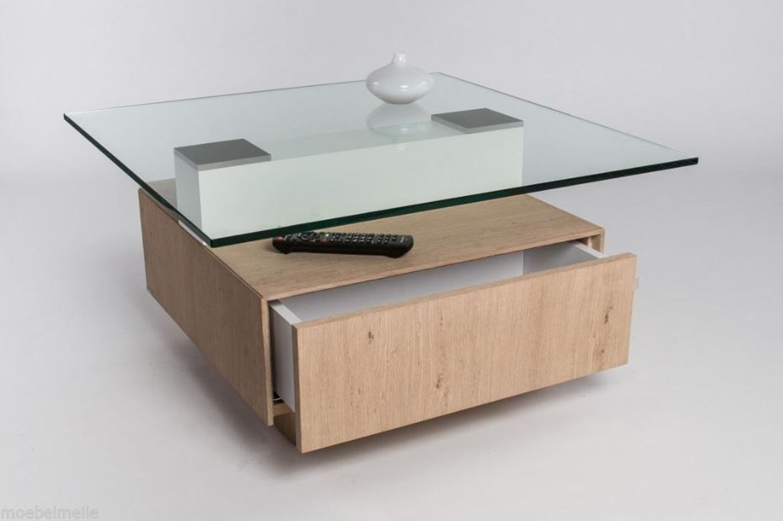 Hl Design Couchtisch Wildeiche Bianco Mit Einer Glasplatte Tisch