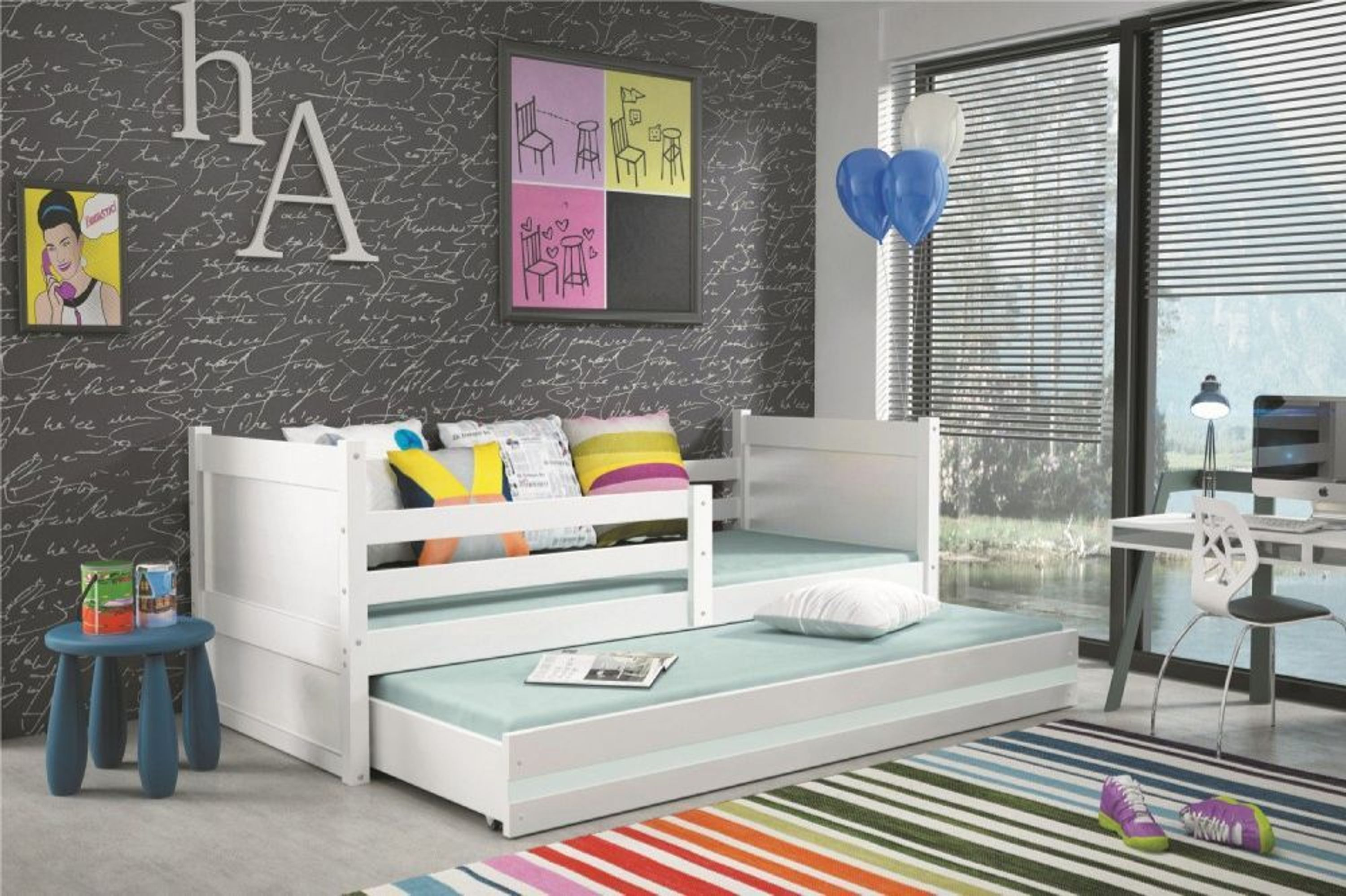 kinderbett joko in wei mit g stebett in wei 190 x 80 cm kaufen bei. Black Bedroom Furniture Sets. Home Design Ideas