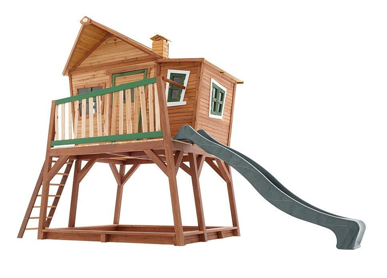 spielhaus holzh tte f r kinder holzspielhaus rutsche t v gepr ft zedernholz kaufen bei. Black Bedroom Furniture Sets. Home Design Ideas