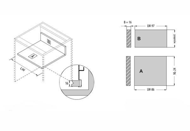 Schubkasten Kuchenschublade Schublade Vollauszug Kuchenschubkasten
