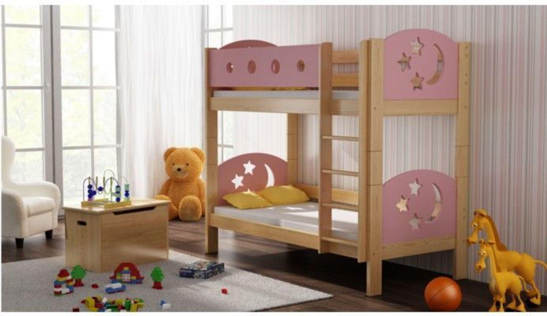 Etagenbett Doppelt : Etagenbett hochbett mia stockbett kinderbett 180x80cm massivholz