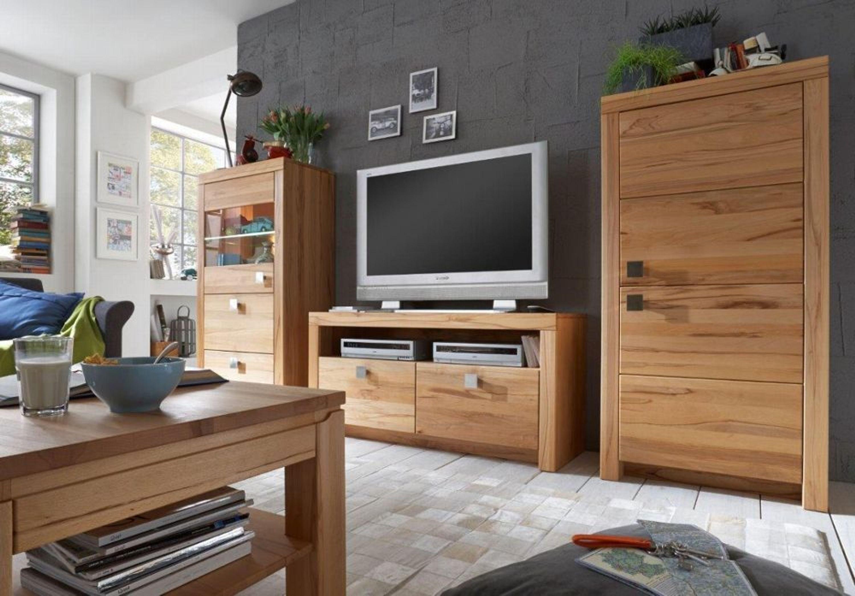Wohnwand tv wand komplett set mit couchtisch kernbuche wildeiche massiv ge lt kaufen bei - Wohnzimmer kompletteinrichtung ...