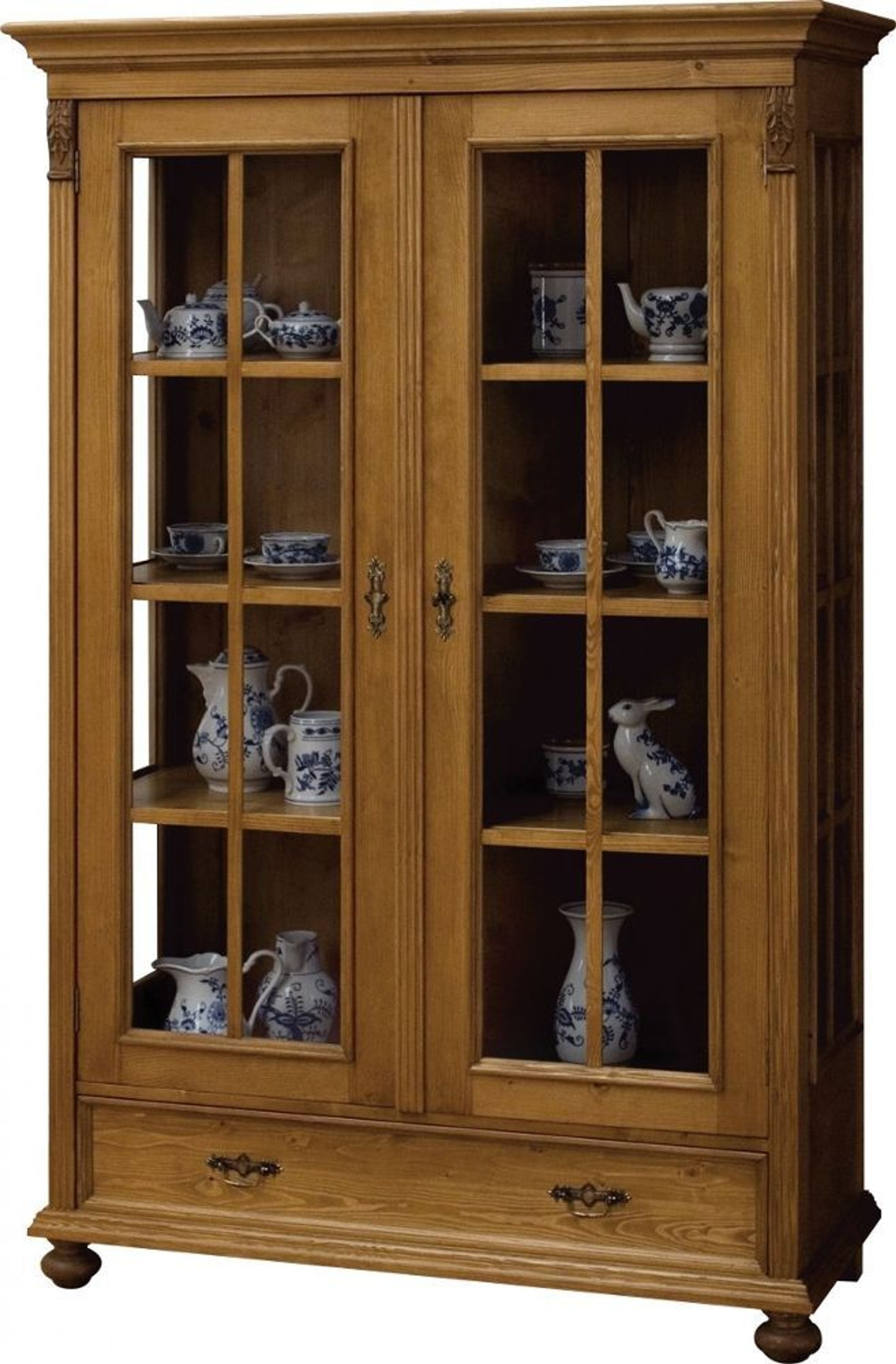 vitrine vitrinenschrank esszimmer schrank fichte massiv antik landhaus 1880 kaufen bei. Black Bedroom Furniture Sets. Home Design Ideas