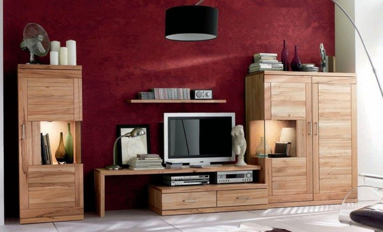wohnwand wohnzimmerwand wohnzimmer tv lowboard highboard kernbuche massiv kaufen bei. Black Bedroom Furniture Sets. Home Design Ideas