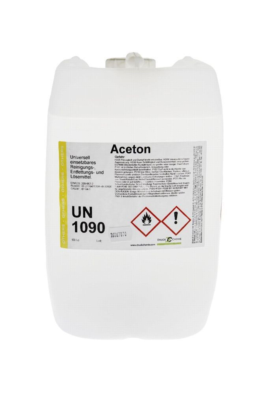 Bevorzugt 10 Liter Kanister Aceton 99,5% + Auslaufhahn - Reiniger, Entfetter HW52