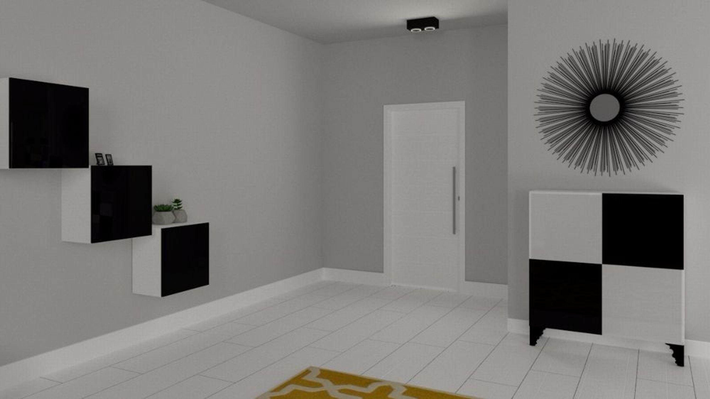 h nge kommode sideboard anrichte schrank alfa hochglanz wei schwarz kaufen bei. Black Bedroom Furniture Sets. Home Design Ideas