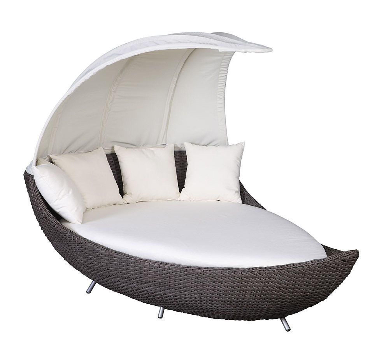 gartenmobel polyrattan sonneninsel, liegeinsel crescent chai duo sonnenliege polyrattan gartenmöbel, Design ideen