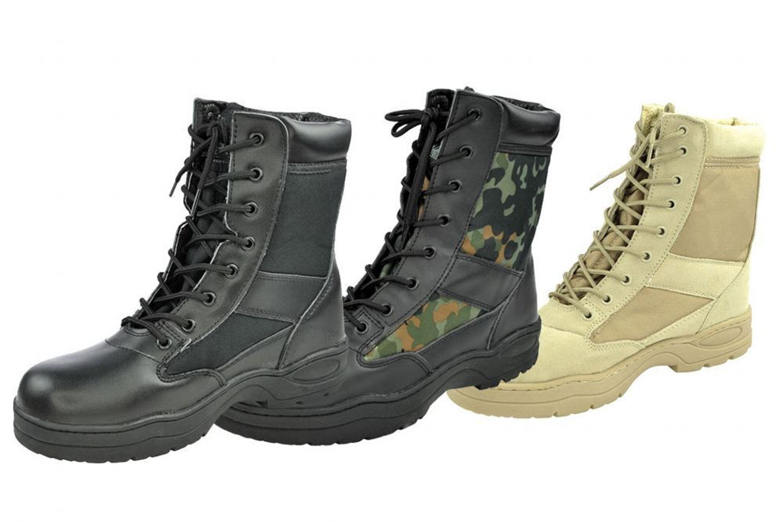 wie man kauft Original Kauf Ruf zuerst Outdoor Boots Springerstiefel schwarz beige US Army Stiefel Kampfstiefel 37  - 47