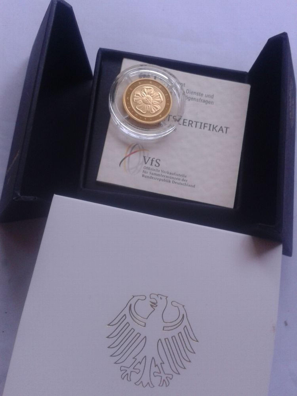 Original 50 Euro 2017 Gold G Deutschland Brd Lutherrose 500 Jahre