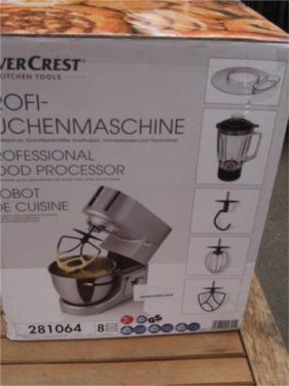 Silvercrest® Profi-Küchenmaschine SKV 1200 A1 mit Mixer Aluminiumgehäuse