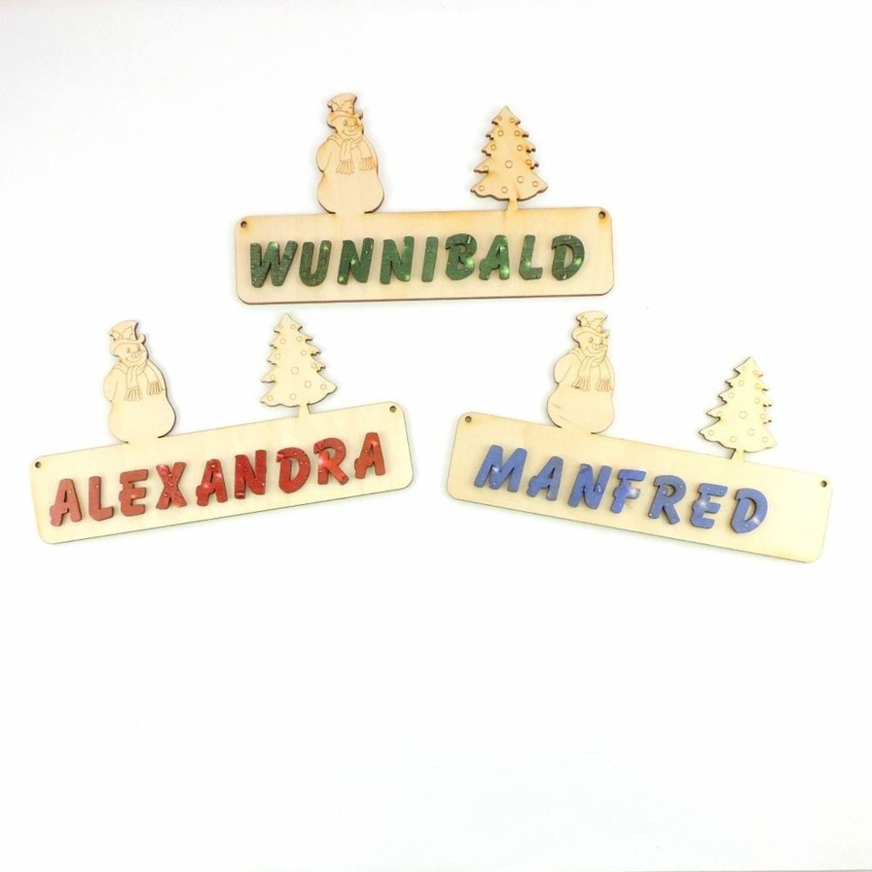 Türschild Kinderzimmer mit Namen, bunten Buchstaben, 18cm Holz ...