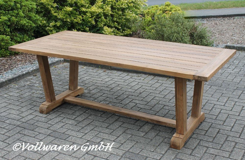 Teak Gartentisch Kajen 220x100 Teakholz Antik Massiv Tisch Tafel