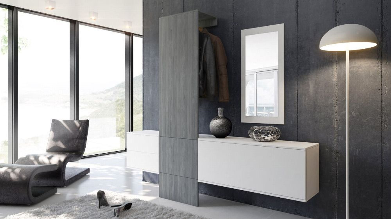 Garderobenset Flur Garderobe Diele Carlton Set 1 In Weiß Hochglanz