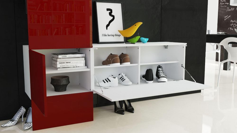 Garderobenset Flur Garderobe Diele Carlton Set 4 In Weiß Hochglanz