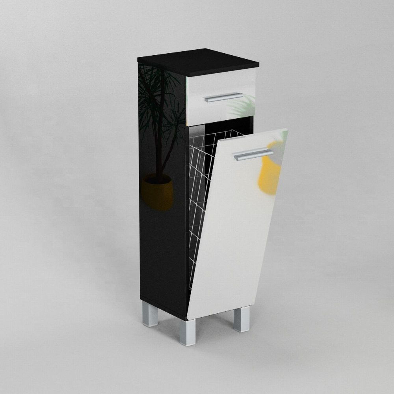 badezimmerschrank mit waschekorb, badezimmerschrank schrank mit wäschekorb sn7 30 cm in schwarz, Design ideen