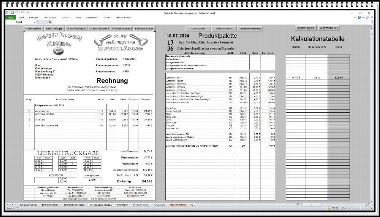 Rechnungsprogramm Rechnungssoftware Getränkehandel Getränkemarkt Mit