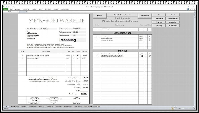 Rechnungssoftware Mit Produktpalette Mahnung Lieferschein Angebot