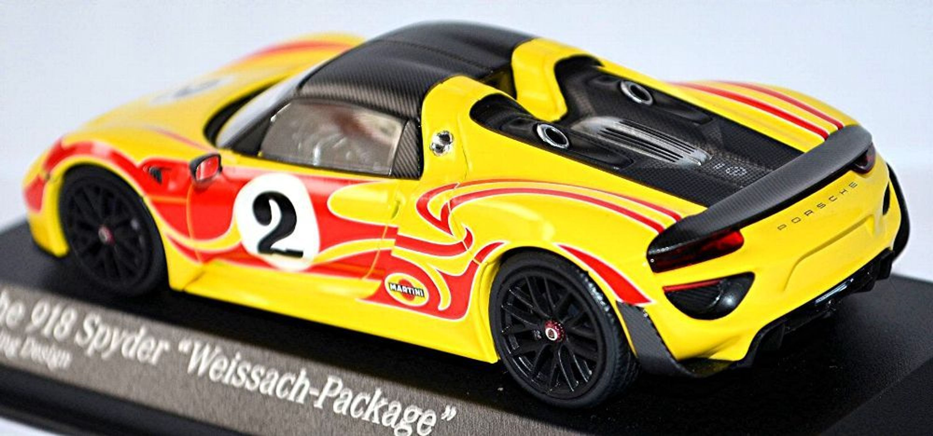 Minichamps 1:43 PORSCHE 918 SPYDER /'Weissach package W//KYALAMI RACING design