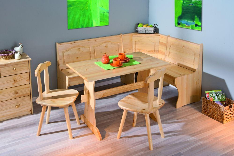 Eckbankgruppe Kiefer Massiv, Eckbank, Tisch U0026 2 Stühle NEU U0026 OVP