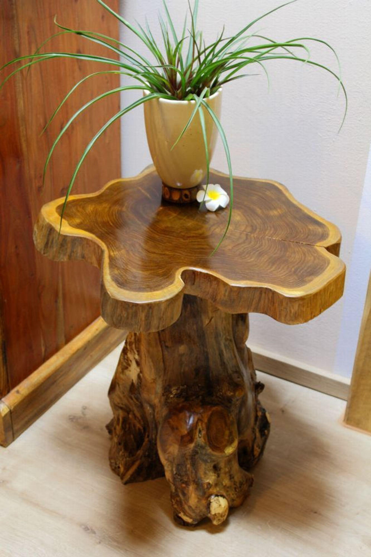 Beistelltisch Teak Massiv Holz Telefontisch Tisch Couchtisch