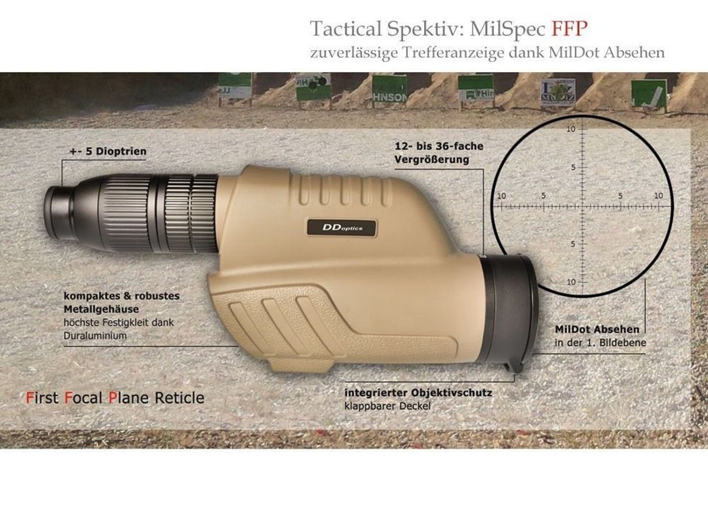 Zieloptik nachtfalke 5 30x50 tactical gen. iii spektiv milspec 12