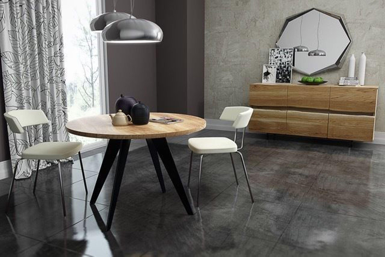 Runder tisch rund esstisch akazie massiv massivholztisch for Tisch nordic design