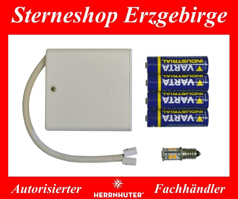 Batteriehalter Für 1 Herrnhuter Stern Ministern A1e Oder A1b  Kunststoffstern 13 Cm