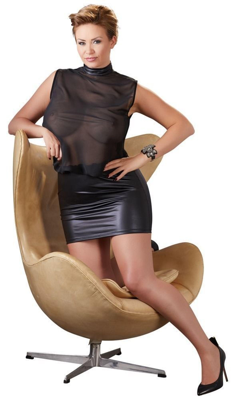 fc6c9fe15a Plus Size Minikleid Schwarz Transparent Lack Look Kleid Übergröße XL 2XL  3XL 4XL kaufen bei Hood.de - Farbrichtung Schwarz Material Wetlook, Tüll