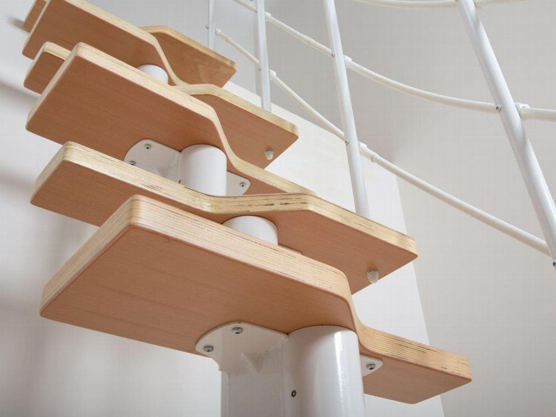 raumspartreppe wei multiplex stufen buche f r. Black Bedroom Furniture Sets. Home Design Ideas