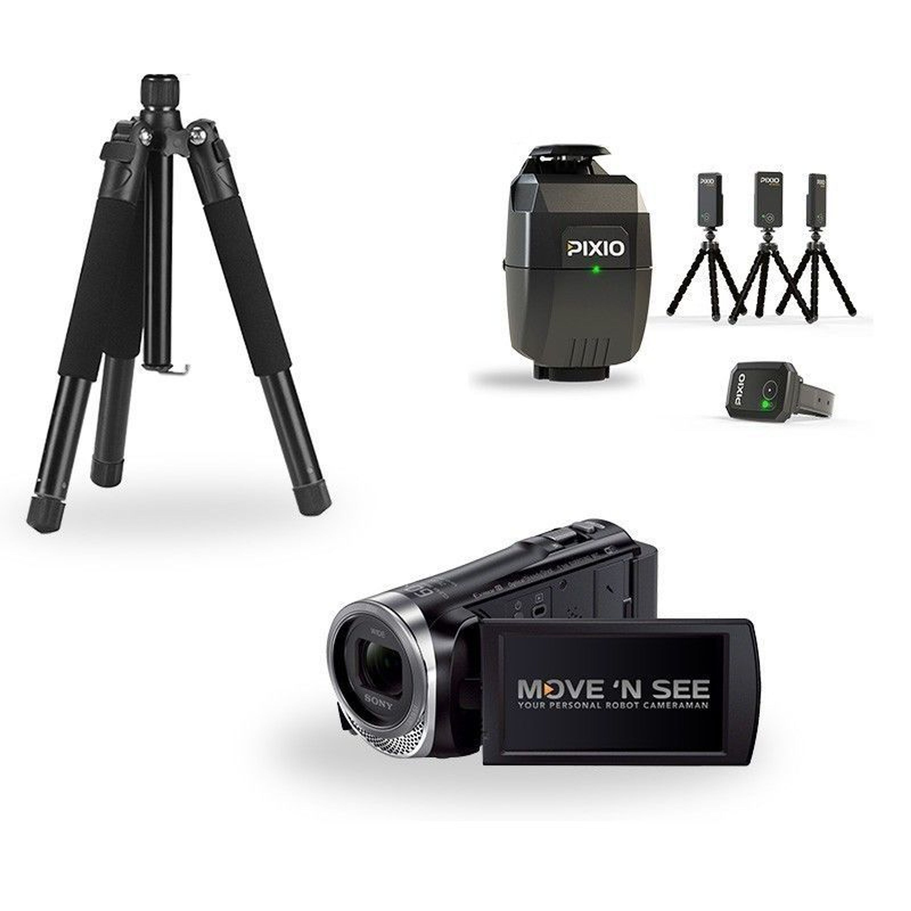 Pixio Pack ready to film SONY HDR CX450 Kamera + Roboter + Stativ ...