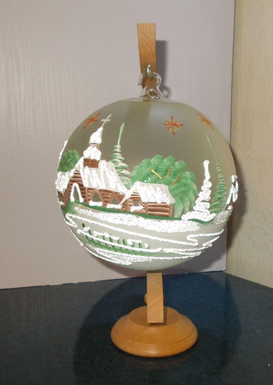 Winterzauber teelichthalter kerzenst nder glaskugel - Dekoration winterzauber ...