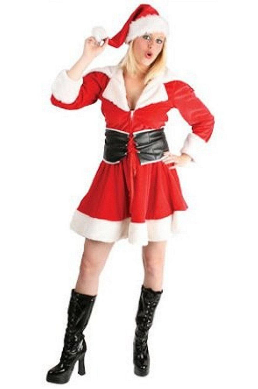 e3cc65ddc0264 Santa Weihnachtskostüm Weihnachtsfrau Kostüm Damen Weihnachten Nikolaus 36