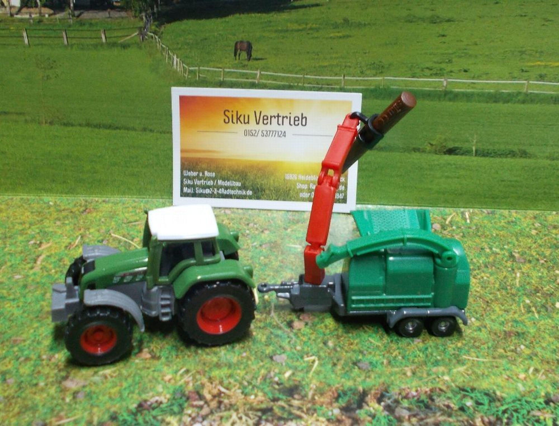 Siku super Blister, Artikel Nr.:1675 , Traktor mit Holzhäcksler, neu ...