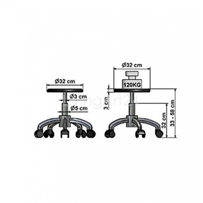 b rostuhl archi schwarz office sitzhocker mit rollen kaufen bei. Black Bedroom Furniture Sets. Home Design Ideas