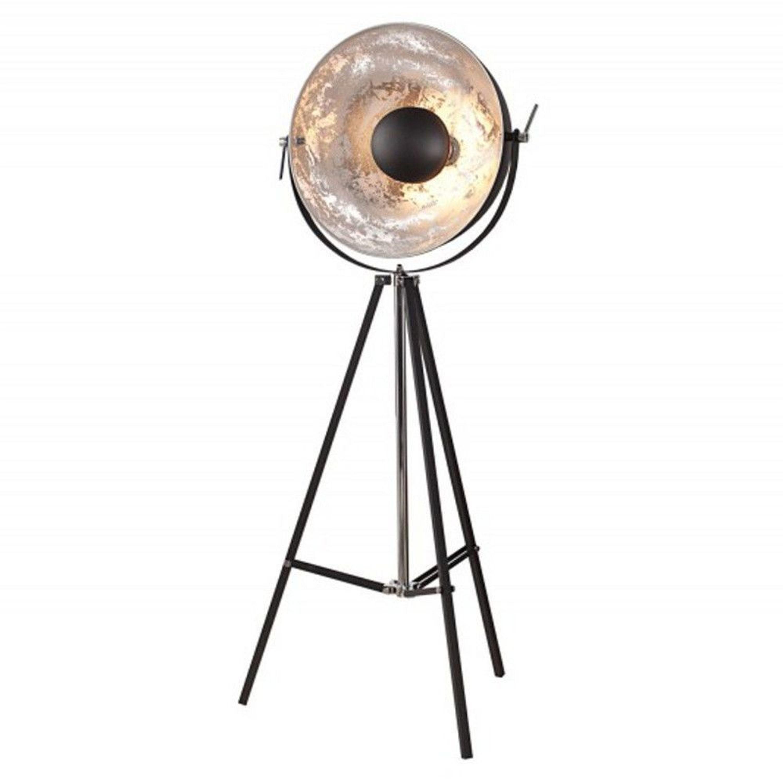 stehleuchte opti 160 schwarz silber dreibein stehlampe kaufen bei. Black Bedroom Furniture Sets. Home Design Ideas
