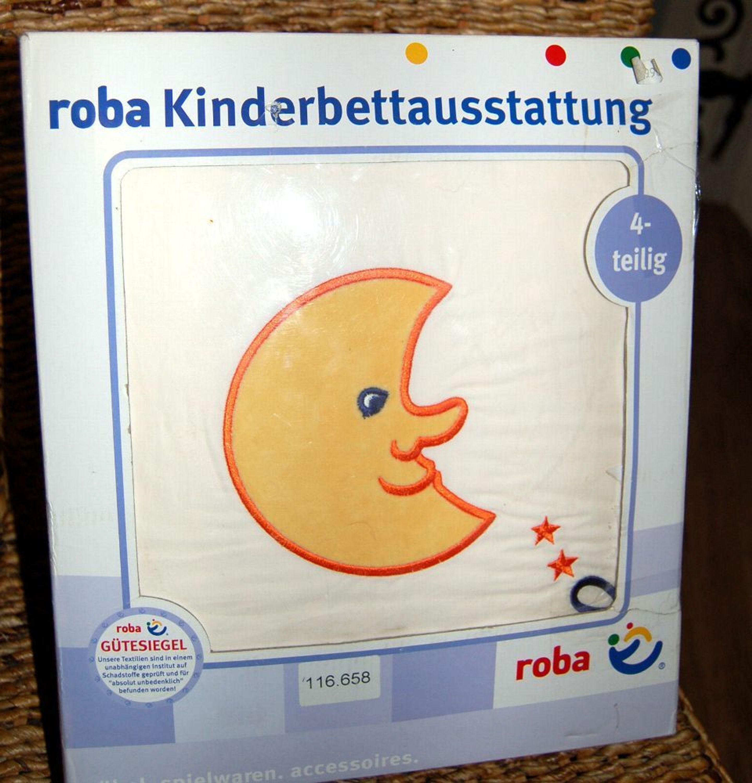 Aktion Roba Baby Bettwäsche Set Nestchen Himmel Mond Gestickt Neu
