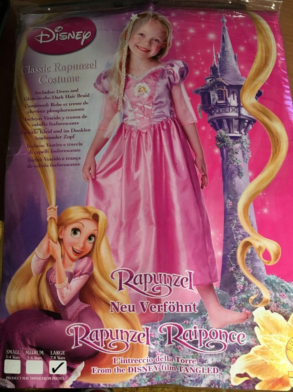 Rapunzel Kleid Mit Zopf Kostum Fasching Disney Fur Madchen Von