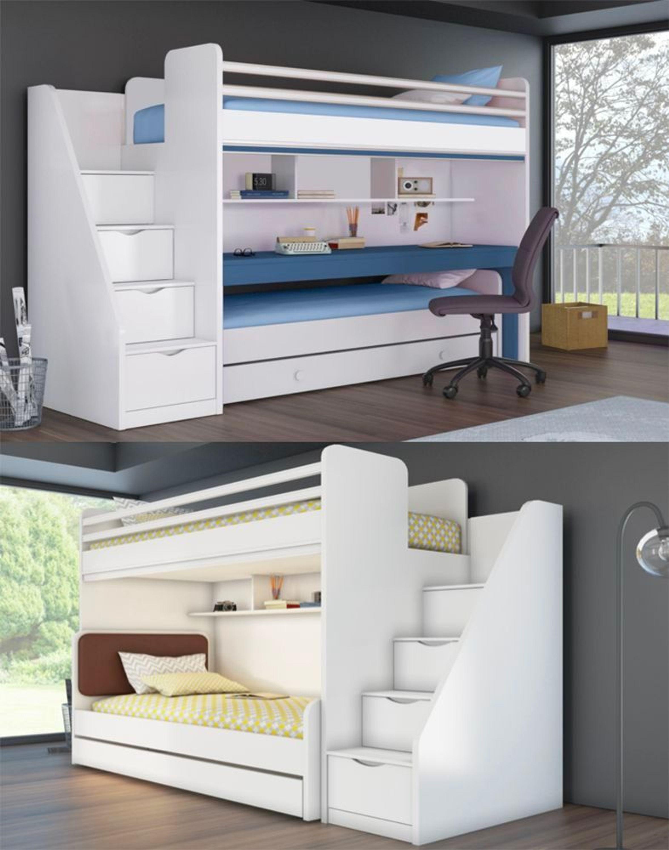 kinder jugend hochbett bett inkl treppe t v gs gepr ft kaufen bei. Black Bedroom Furniture Sets. Home Design Ideas