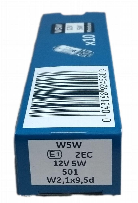 10 Stück GE General Electric 12V W5W W2,1X9,5d