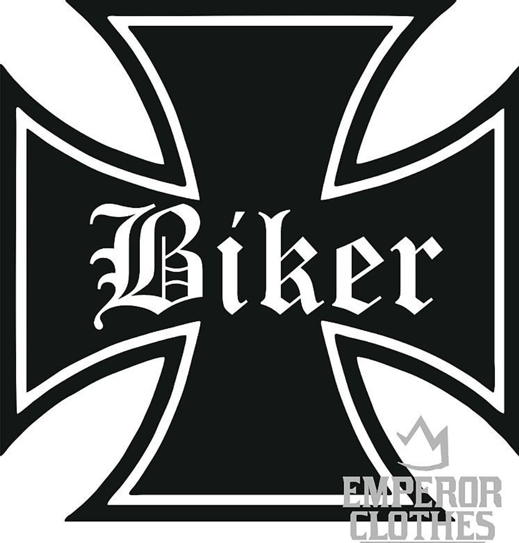 Eisernes Kreuz Biker Totenkopf Aufkleber Sticker Autoaufkleber Chopper Evo