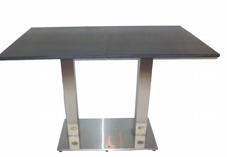 Destiny Tisch Cube Gartentisch 110 X 70 Edelstahl Granit Gastrotisch