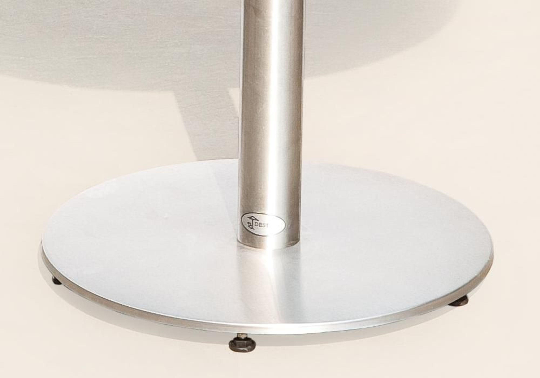 Destiny Tisch Round Gartentisch 70cm Edelstahl Stahl Granit