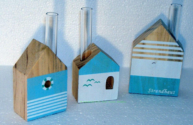 Vasenset Deko Vasen Set Strandhaus Design Aus Holz Und Glas Tolle