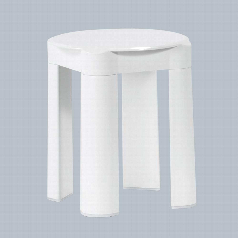 Badezimmerhocker Kunststoff Weiß